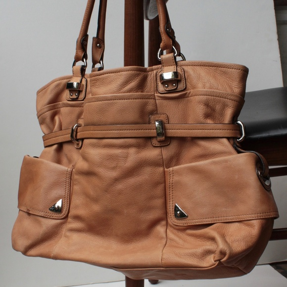 b. makowsky Bags   B Makowsky Brown Tan Leather Hobo Bag   Poshmark a7ccfed1d3